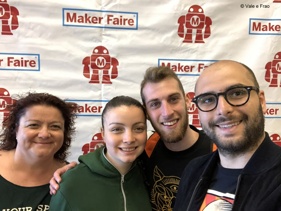 California: Maker Faire Bay Area. Valeria e Francesco ingresso Maker faire