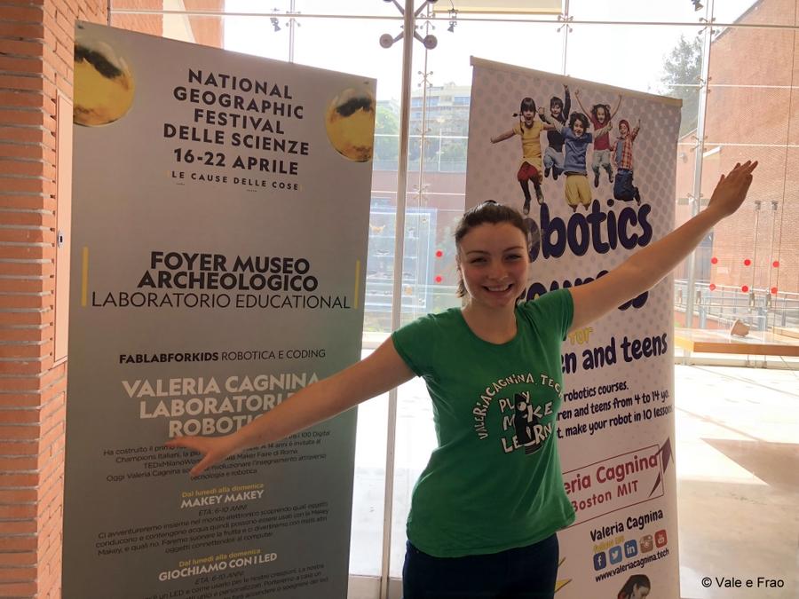Festival delle scienze di National Geographic a Roma. valeria stand