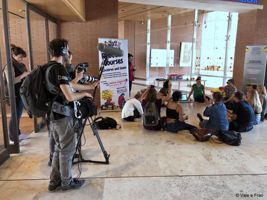 Festival delle scienze di National Geographic a Roma. registrazione documentario attività