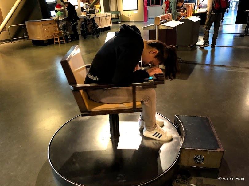 visitare Exploratorium il museo della scienza di San Francisco California esperimento vista
