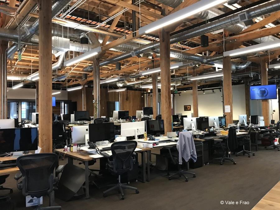 Visitare gli uffici di Github a San Francisco California scrivanie operative