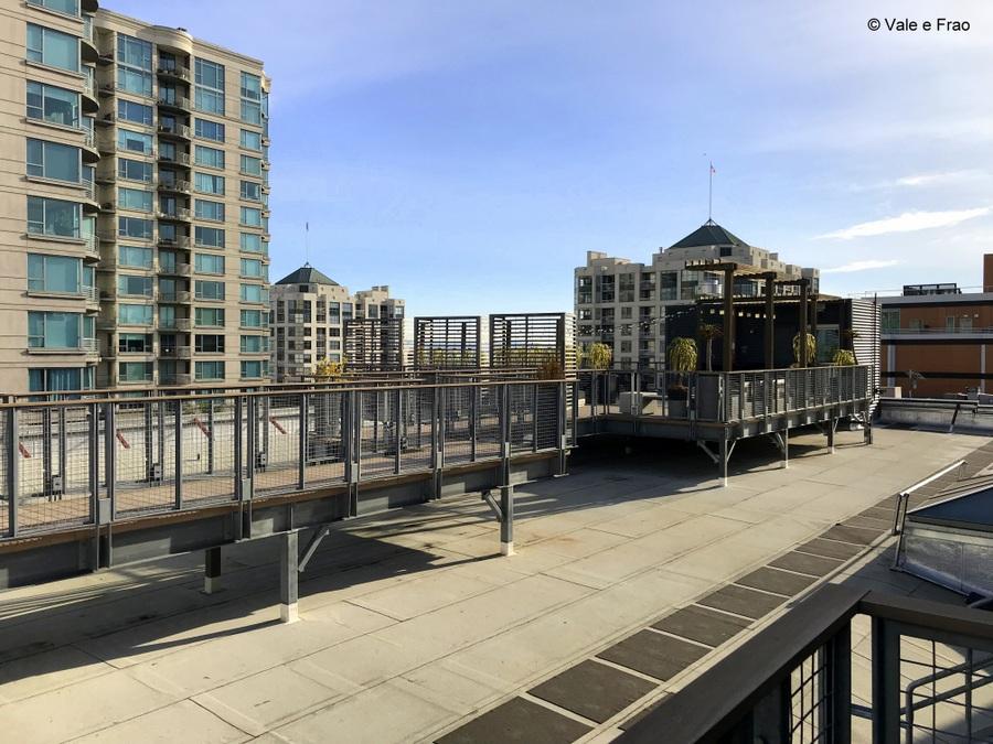 Visitare gli uffici di Github a San Francisco California terrazza sul tetto