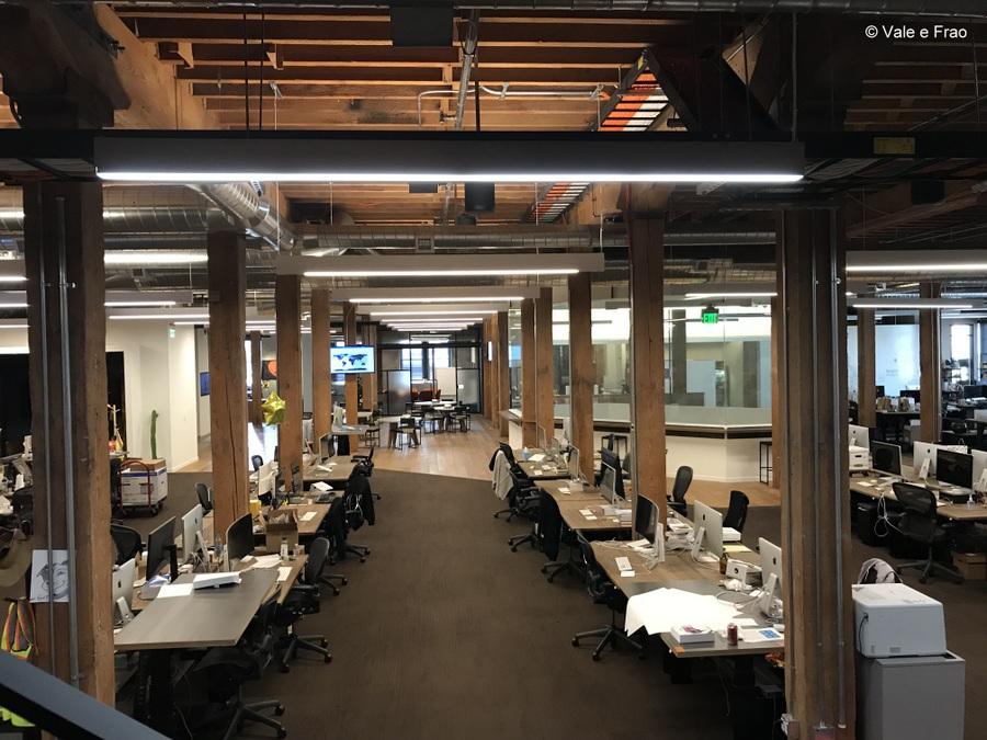 Visitare gli uffici di Github a San Francisco California open space