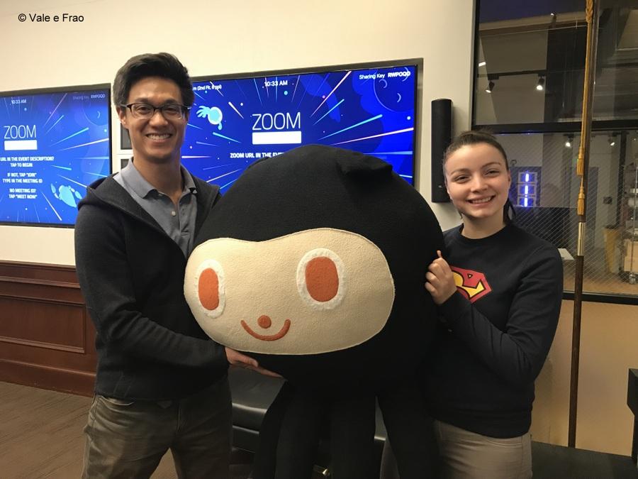 Visitare gli uffici di Github a San Francisco California valeria craig e la mascotte octocat