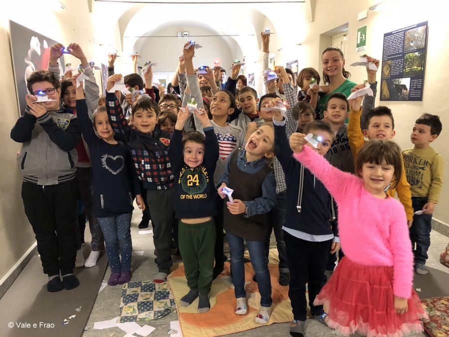 Laboratori di robotica per bambini al museo di Asti laboratorio led