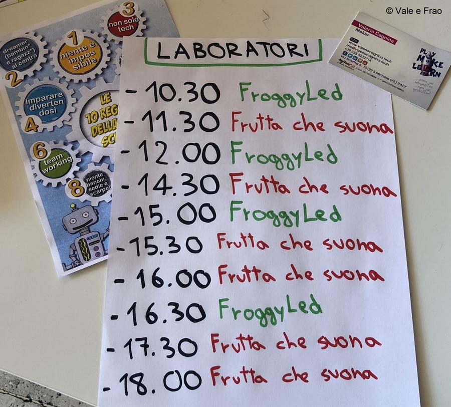 Festival delle scienze di National Geographic a Roma. programma laboratori robotica vale e frao
